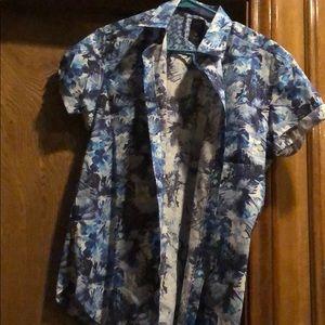 Short sleeved button down shirt